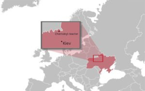 Chernobyl Reactor location