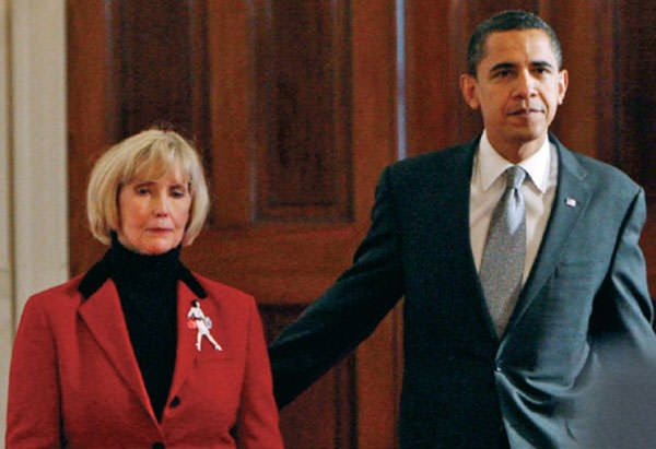 President Obama with Lilly Ledbetter