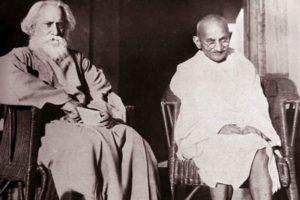 Rabindranath Tagore and Mahatma Gandhi