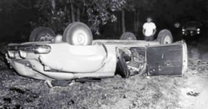The car crash that killed Pollock