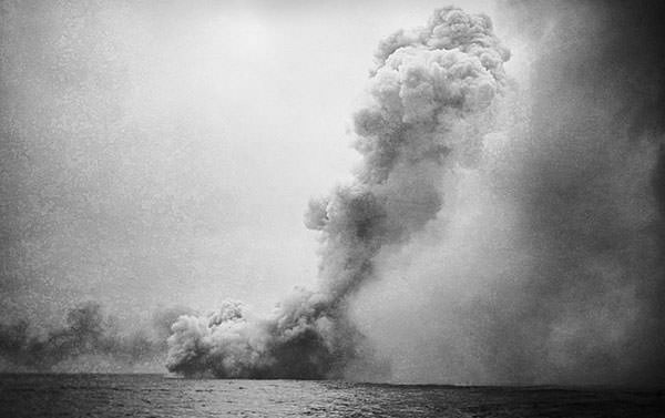 Destruction of HMS Queen Mary at the Battle of Jutland
