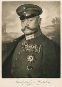 German Field Marshal Paul von Hindenburg