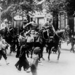 WW1 German cavalry in Warsaw