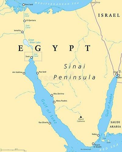 Suez Canal Location