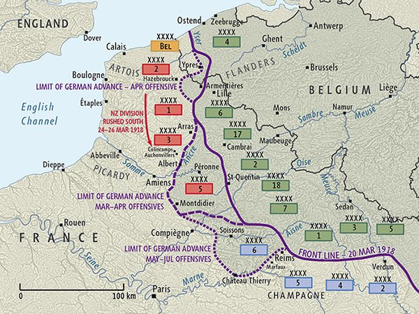German Spring Offensive Map