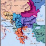 Map of the Balkans in 1914