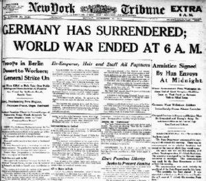 German Surrender in WW1 report