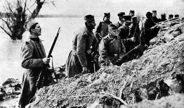 Serbian soldiers in WW1