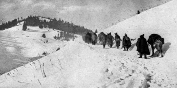 Serbian Army's retreat through Albania in WW1