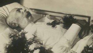 Emperor Franz Josef I on his death bed