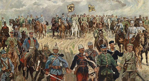 Franz Josef I with military commanders in WW1