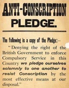 Ireland Anti-conscription pledge