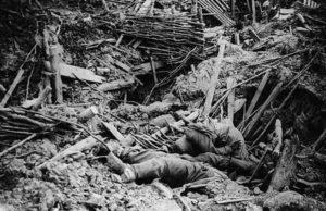 Messines Ridge explosion in WW1