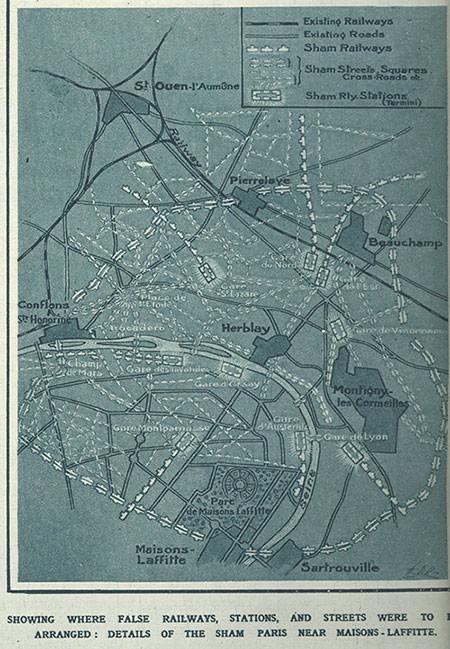 Fake Paris plan map