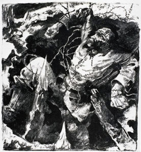 Dying Soldier in a Trench (1915)