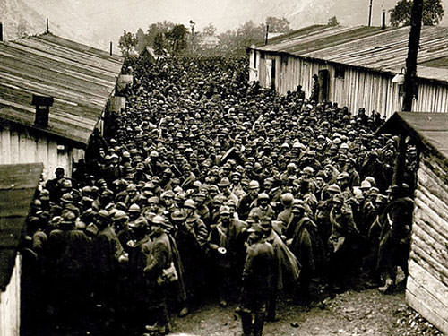 Battle of Caporetto Italian POWs