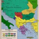 Balkan states map 1912