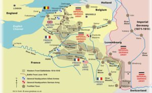 Western Front Map WW1