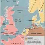 British naval blockade of Germany map