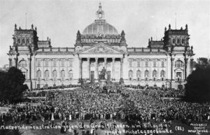 German protest against Treaty of Versailles