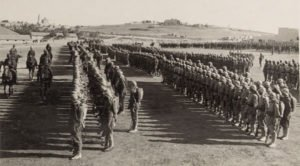 Ottoman officers review troops in Jerusalem
