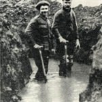 Water-logged trench WW1