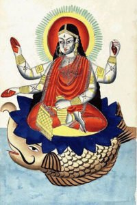 Goddess Ganga on Makara