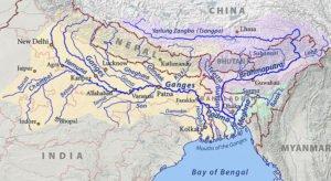 Ganges, Brahmaputra and Meghna drainage basin