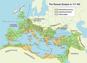 Roman Empire map, 117 CE