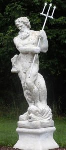 Statue of Poseidon with his trident