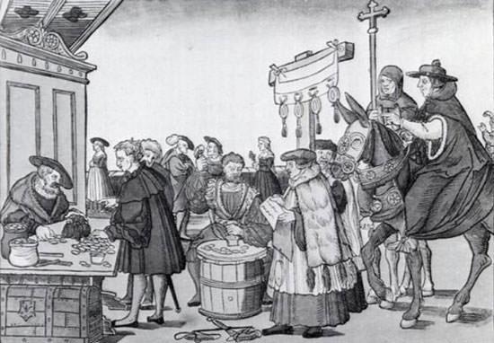 Catholic sale of indulgences