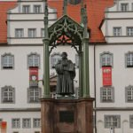 Luther Monument in Lutherstadt Wittenberg