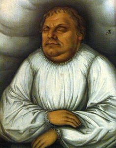 Martin Luther on his deathbed