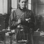 Marie Curie in her Paris laboratory