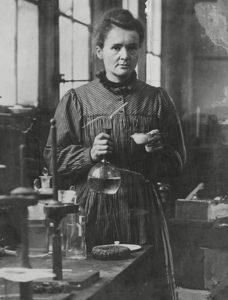 Marie Curie in her Paris laboratory