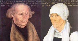 Portraits of parents of Martin Luther