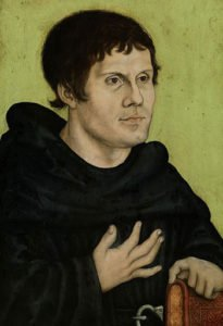 Portrait of Martin Luther as a monk