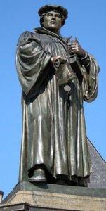 Martin Luther statue in Eisleben