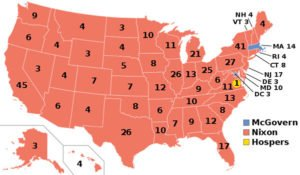 1972 US presidential election map