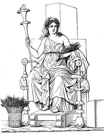 Relief of Demeter in Pompeii