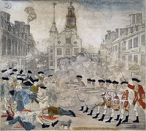 Portrayal of Boston Massacre