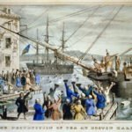 Depiction of Boston Tea Party
