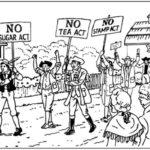 American Revolution taxation protests cartoon