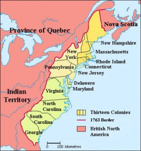 British colonies in America Map