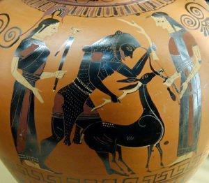 Herakles captures the Ceryneian Hind