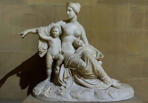Leto with Apollo and Artemis