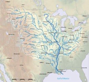 Mississippi River Basin map