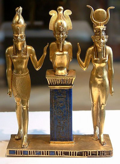 Statues of Horus, Osiris and Isis