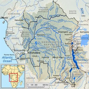 Congo Drainage Basin Map