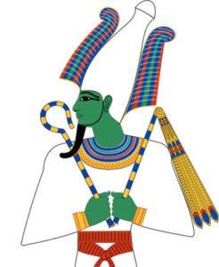 Osiris with crook and flail